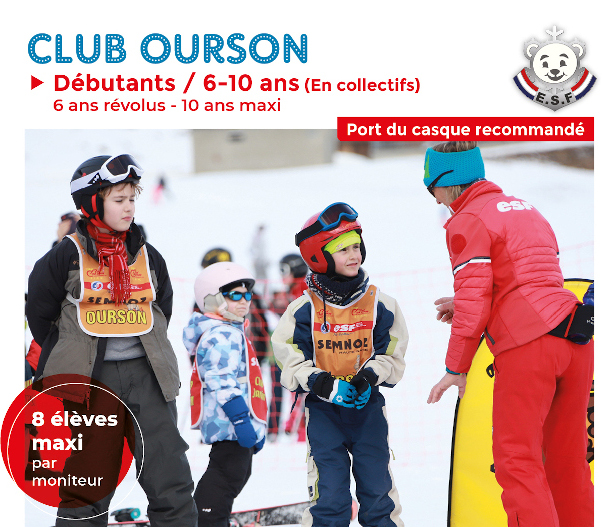 Club ourson top page